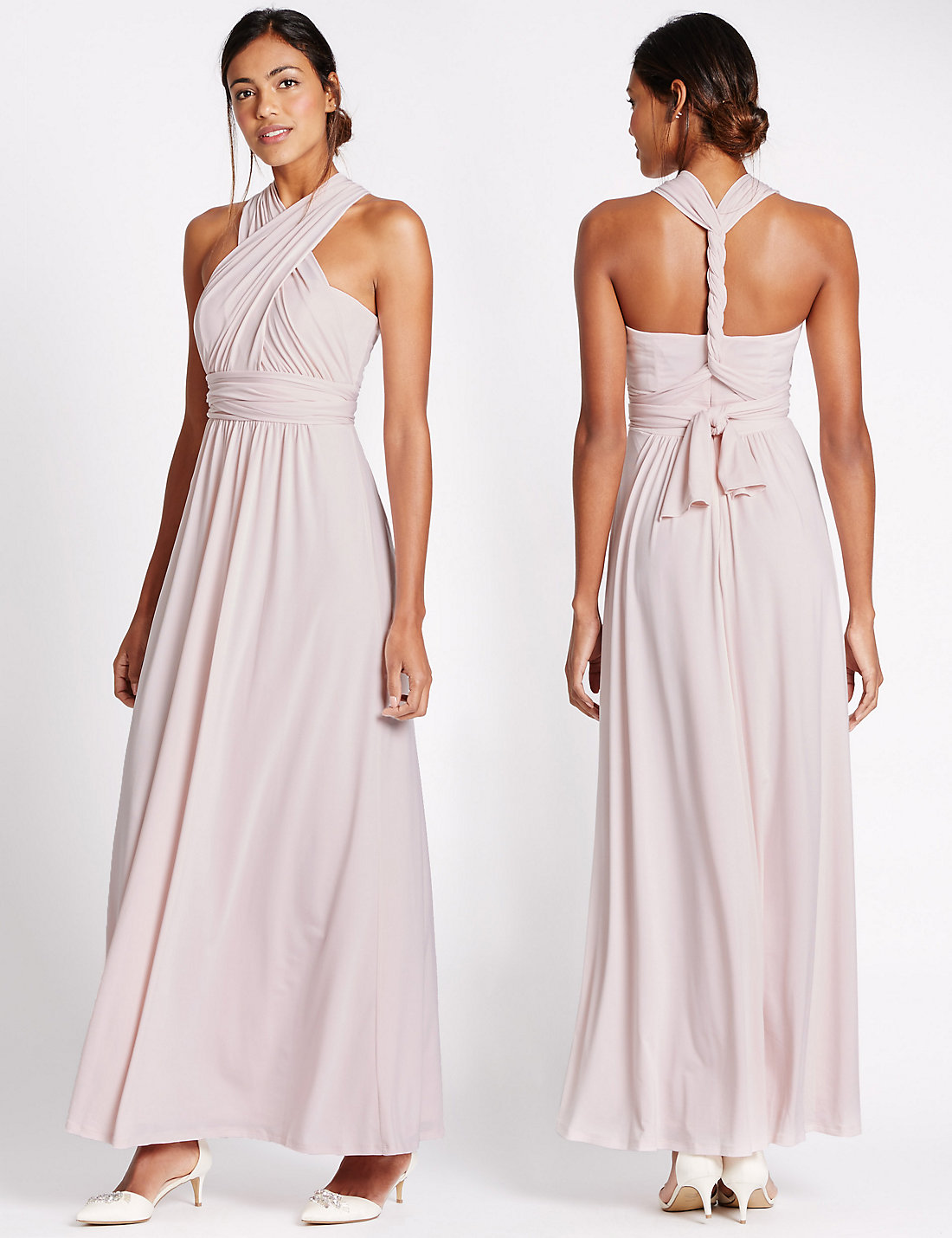 Marks and Spencer Pink Multiway Strap Maxi Dress