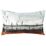 Designer bright orange sunset cushion
