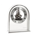 Chrome skeleton arch mantle clock