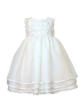 Heritage Girl's Monica Sleeveless Dress. Age sizes birth - 2 years.
