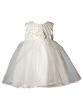 Heritage Girl's Constance Sleeveless Dress. Age sizes birth - 2 years.
