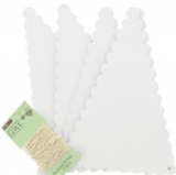 Scalloped Edge Bunting White