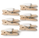 Wooden Heart Pegs 6 Pack