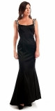 ARIELLA KIMBERLEY SATIN JEWEL LONG DRESS