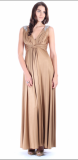 ARIELLA DARCIE LACQUERED JERSEY MAXI DRESS – BRONZE
