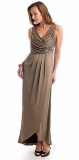 ARIELLA GRACE JET LAQUE JERSEY LONG DRESS
