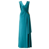 ARIELLA NATALIA JERSEY LONG DRESS TEAL