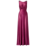 ARIELLA HARPER JERSEY LONG DRESS MAGENTA