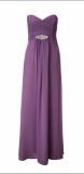 ARIELLA JAIDA STRAPLESS CHIFFON LONG DRESS
