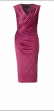 ARIELLA ALEXIA JERSEY SHORT DRESS MAGENTA