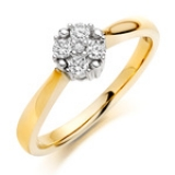 GOLD ENGAGEMENT CLUSTER RING