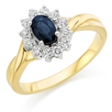 SAPPHIRE ENGAGEMENT CLUSTER RING