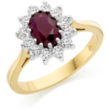 RUBY ENGAGEMENT CLUSTER RING