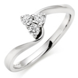 WHITE GOLD ENGAGEMENT TWIST RING