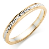 BI-COLOUR GOLD SPARKLE WEDDING RING