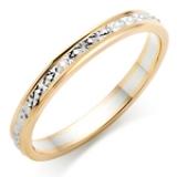 BI-COLOUR GOLD SPARKLE WEDDING RING