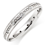 WHITE GOLD VINTAGE DIAMOND WEDDING RING