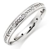 WHITE GOLD VINTAGE DIAMOND WEDDING RING