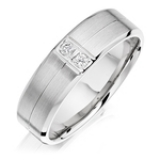 MEN'S PALLADIUM DIAMOND WEDDING RING