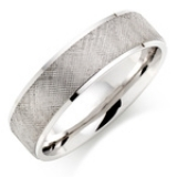 MEN'S PALLADIUM CROSSHATCH WEDDING RING