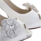 John Lewis Rainbow Club Vela Flower Shoe Bows