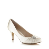 Debenhams Debut Ivory Satin Diamante Wedding Shoes