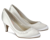 Debenhams Pink By Paradox London Ivory Satin Dahlia Wedding Shoes
