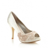 Debenhams Debut Gold Metallic Beaded Wedding Shoes