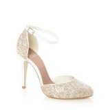 Debenhams Faith Natural Glitter Lace Wedding Shoes