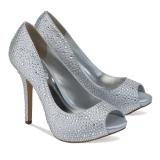 Debenhams Pink By Paradox London Satin Luxe Silver Wedding Shoes