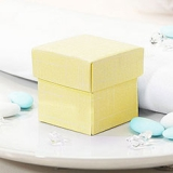 Yellow Wedding Favour Boxes
