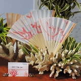 Bridal Fan Accessory With Red Detail
