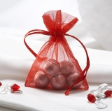 Red Organza Favour Bags