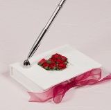 Red Romantic Paper Wrapped Pen Set