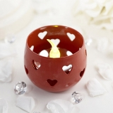 Red Heart Tea Light Candle Holder