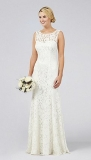 Debenhams - Debut Elaine Lace Bridal Dress