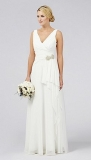Debenhams - Debut Emilia Grecian Waterfall Wedding Dress