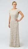 Debenhams - Debut Cream 'Vivienne' lace and beaded wedding dress