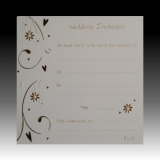 Pack of 10 Luxury Gold Foiled Wedding Invitations - Hearts & Flowers