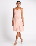 M&S Floral Lace Strap Swing Dress