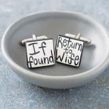 'If Found Return To Wife' Cufflinks
