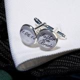 Personalised Silver Plated Wedding Cufflinks