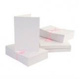 Anita's 100 x A6 Blank Cards & Envelopes - White