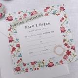 Vintage Floral Wedding Invitations