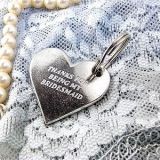 Wedding Party Pewter Heart Token Or Key Ring