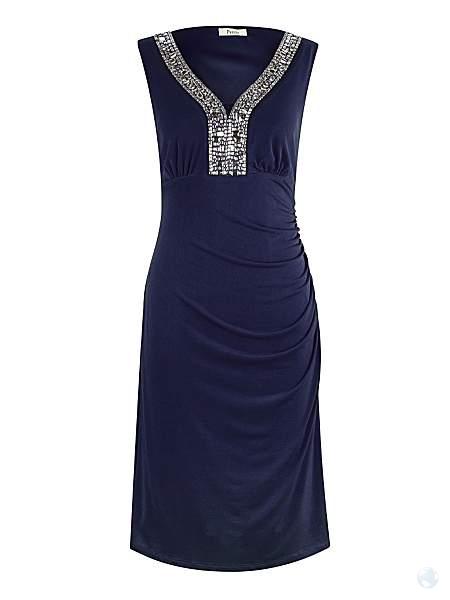 e0172cd0e908 House of Fraser - Precis Petite Navy Embellished Dress