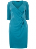 Evans - SCARLETT & JO MOSAIC BLUE CITY DRESS
