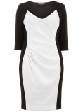Evans - SCARLETT & JO CREAM CONTRAST DRESS