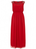 Evans - SCARLETT & JO RED EMBELLISHED DRESS