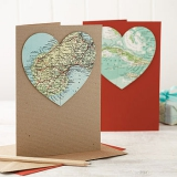 Not On The High Street .com - Personalised Map Heart Card